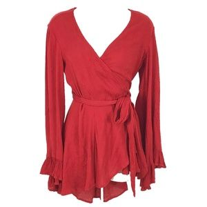 NWT Free People Wrap You Up In Love Top blouse